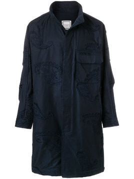 Wooyoungmi embroidered applique coat - Blue