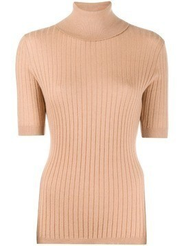 Cashmere In Love ribbed roll-neck Victoria sweater - NEUTRALS