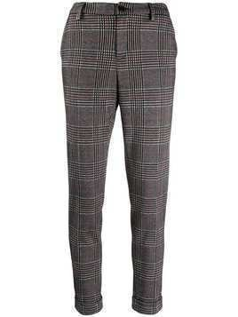 Liu Jo check print trousers - Black