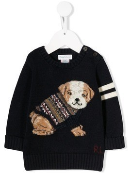 Ralph Lauren Kids knitted dog jumper - Blue