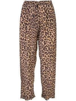 Mes Demoiselles Steven leopard-print trousers - Brown