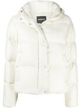 Duvetica cropped puffer jacket - White