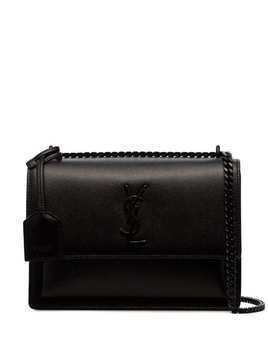 Saint Laurent medium Sunset leather shoulder bag - Black