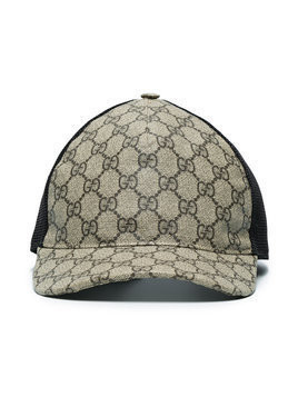 Gucci - GG Supreme baseball hat - Herren - Polyurethane/Polyester/Cotton - S - Brown