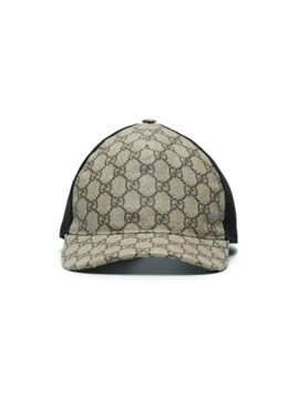 Gucci GG Supreme baseball hat - Brown