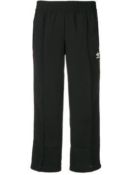 Adidas stripe cropped trousers - Black
