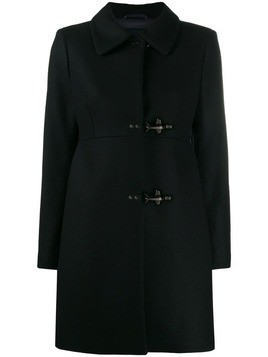 Fay double-breasted coat - Black