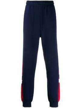 Fila contrasting panel track pants - Blue