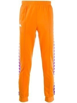 Kappa logo tape track trousers - Orange