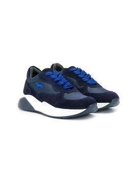 Harmont & Blaine Junior colour block lace-up sneakers - Blue