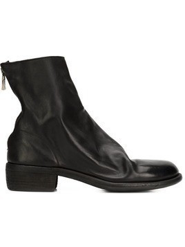 Guidi back zip ankle boots - Black