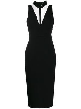 David Koma choker midi dress - Black