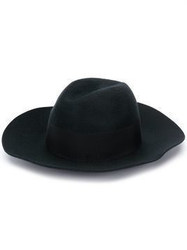 Borsalino Cannete wide brimmed hat - Black