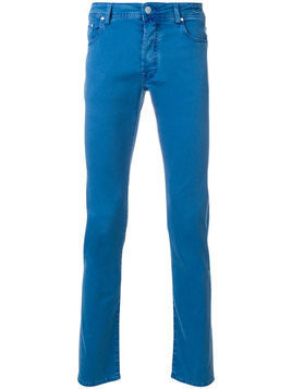 Jacob Cohen - slim-fit trousers - Herren - Cotton/Lyocell/Spandex/Elastane/Polyester - 32 - Blue