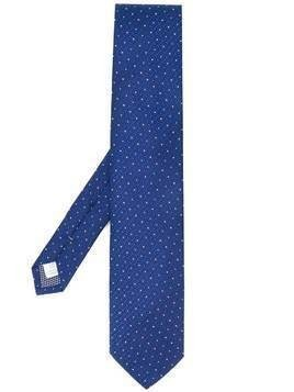 Eton geometric pattern tie - Blue