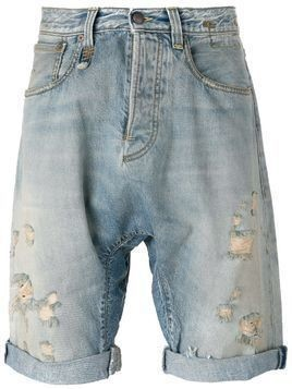 R13 ripped denim shorts - Blue
