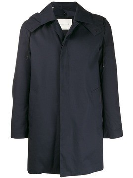 Mackintosh DUNOON HOOD Navy RAINTEC Cotton Short Hooded Coat GM-1004FD - Blue