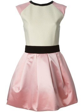 Fausto Puglisi cap sleeve flared dress - Pink