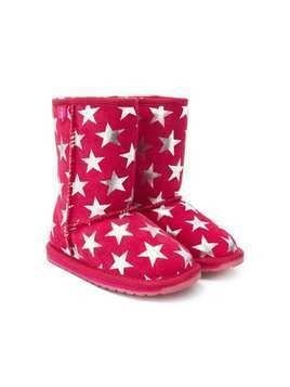 Emu Kids star print boots - Pink & Purple