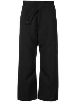 Kiko Kostadinov loose fit cropped trousers - Black