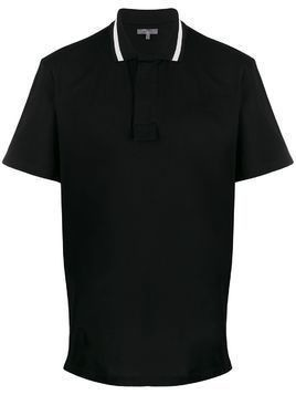 LANVIN concealed-placket polo shirt - Black