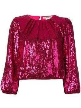 Alice+Olivia Avila sequinned top - Pink