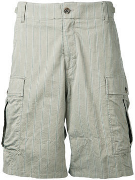 Undercover faint striped cargo shorts - Green