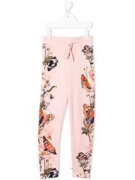 Molo butterfly print trousers - Pink