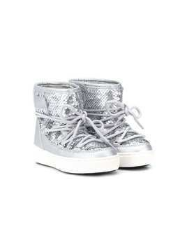 Moon Boot Kids sequin-embellished snow boots - SILVER