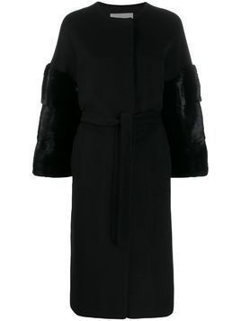 Ava Adore textured single breasted coat - Black