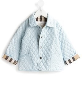 Burberry Kids quilted jacket - Blue
