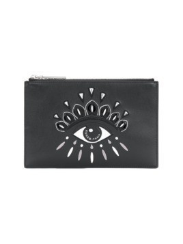 Kenzo Eye detail clutch bag - Black