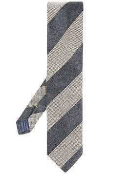 Eton striped print tie - Grey