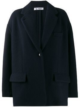 Barena oversized single-breasted coat - Blue