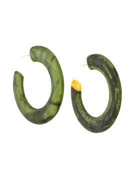 Cult Gaia oversized hoop earrings - Green