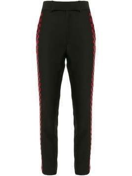 Haider Ackermann checkered stripe trousers - Black