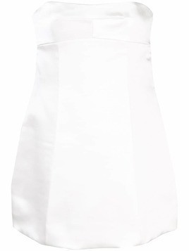Marina Moscone fitted bustier top - White