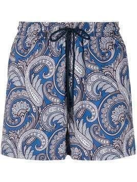 Etro paisley-print swim shorts - Blue