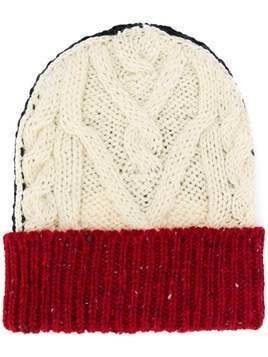Thom Browne cable knit beanie - White