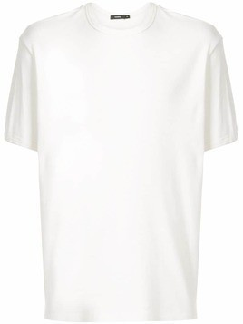 Bassike crew neck ribbed T-shirt - White