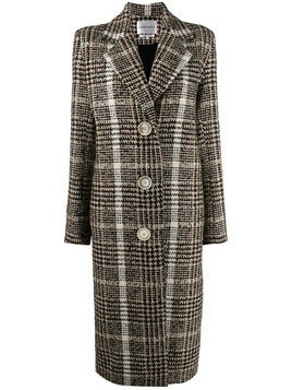 Carmen March checked single-breasted coat - Neutrals