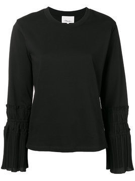 3.1 Phillip Lim pleated-cuff sweater - Black