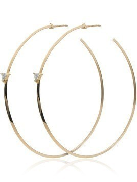 Lizzie Mandler Fine Jewelry yellow gold diamond hoop earrings - Metallic