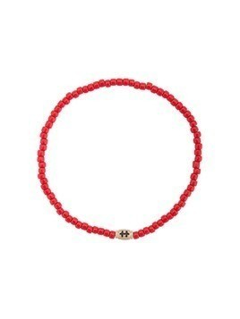 Luis Morais small Cross of Loraine barrel bracelet - Red