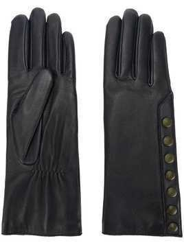 Agnelle gloves with contrast poppers - Blue