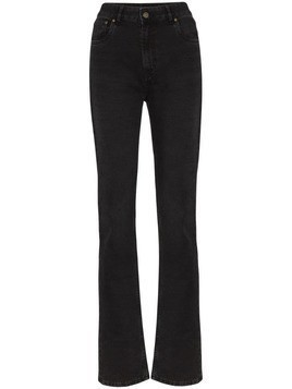 Rockins high-rise long-leg jeans - Black