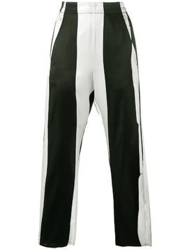 Ann Demeulemeester stripe cropped trousers - Black