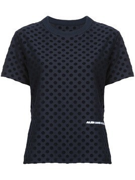 Julien David polka dot T-shirt - Black