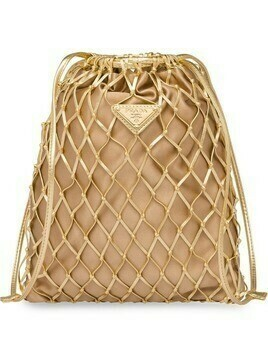 Prada mesh drawstring bag - GOLD