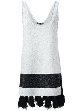 Proenza Schouler - sleeveless tasseled tunic - Damen - Cotton/Nylon/Polyester/Viscose - XS - White
